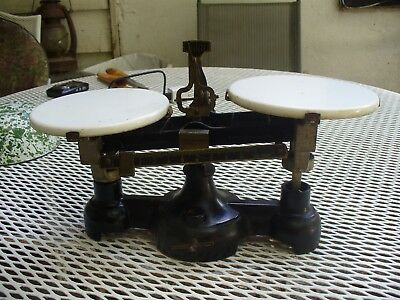 Central Scientific Co Brass And Cast Iron Marble Scale ~ 1925