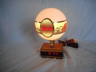 Vintage Coors Globe Light - Digital Clock - Cash Register Display