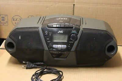 Occasion OK mais esthetique passable : Poste Radio K7 CD Vintage JVC RC-QN3BK
