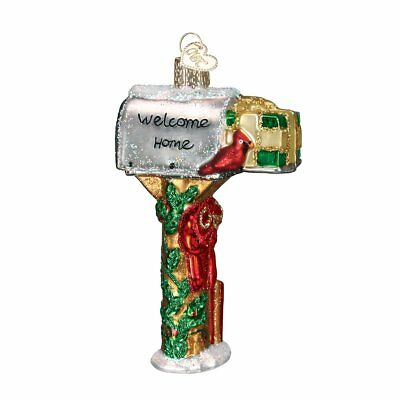 Old World Christmas Welcome Home Mailbox Glass Blown Ornament