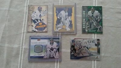Maple Leafs Lot - All Goalie Hockey Cards - RC and Game Used