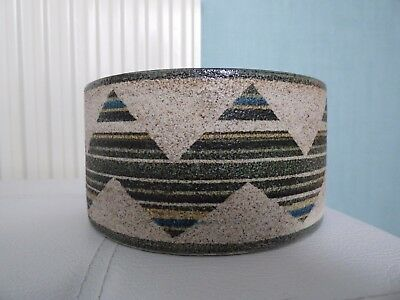 Superb Troika Drum Vase/bowl - Signed A.b.