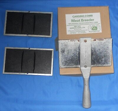 Carding Comb Meat Breeder Nex-Tex Ag Fitting Supplies for Sheep Lamb Wool Comb