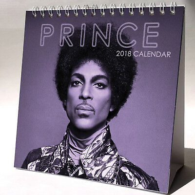 Prince Desktop Calendar 2018 NEW + FREE GIFT 3 Stickers Purple Rain Kiss