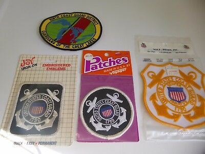 Lot of 4 Vintage US Coast Guard Patches