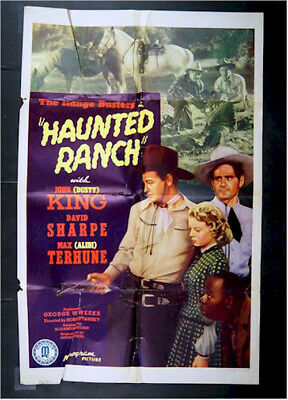Haunted Ranch, Western Movie Poster One Sheet Range Busters 1943