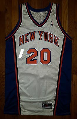 2000-01 New York Knicks Allan Houston Game Issued Worn Used Pro Cut Jersey 50+4