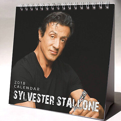 Sylvester Stallone Desktop Calendar 2018 NEW + FREE GIFT 3 Stickers Rocky