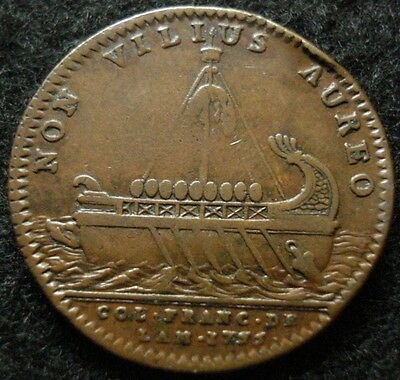 1755 Colonial French American Beaver Token