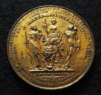 1758 French Indian War Medal GILT RARE Colonial British American