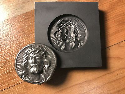 Jesus coin Graphite mold for casting Silver Gold Glass ingot cast   PRO-MOLD AR8