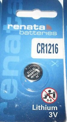 Renata Lithium Batterie CR1216, ED: 07.2021, 3 Volt, Swiss Made