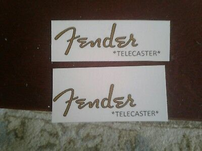 1950s Fender telecaster headstock waterslide restoration logo decal