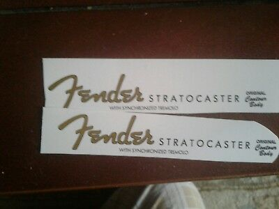 1950s Custom Fender stratocaster headstock restoration waterslide decal logo