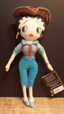 "Betty Boop plush doll ,Cowboy Betty , 12 "" , Kellytoy 1999"