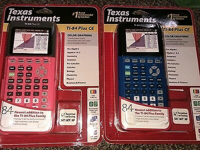 Texas Instruments TI-84 Plus CE Graphing Calculator Pink, black, or Blue