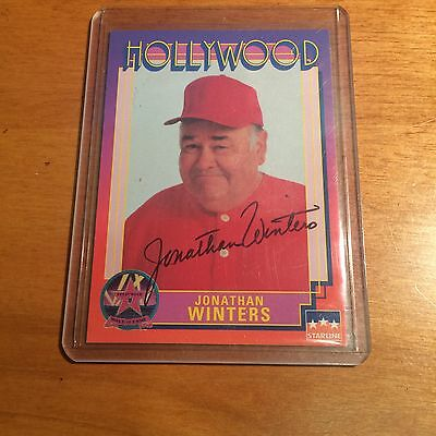 1991 Starline Jonathan Winters Autograpghed Card Very Rare Deceased