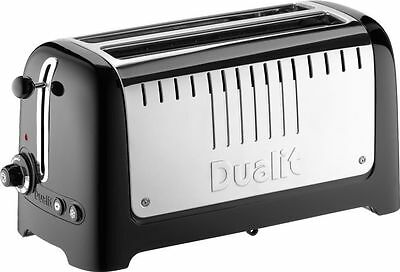Dualit Lite 4 Slice Long Slot Toaster with Warming Rack Black 46025 NEW