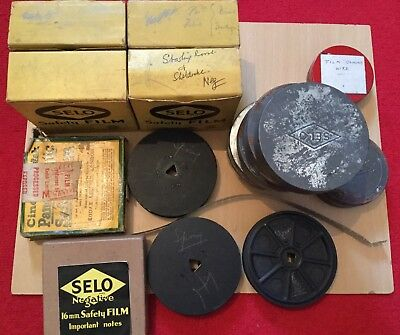 19 x 16mm FILMS,DOCUMENTARY STYLE.BIRDS,WILDLIFE.1930's.COLOUR,B&W,NEG,POSITIVE