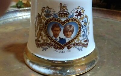 Charles and  Diana wedding bells whiskey decanter Wade commemorative