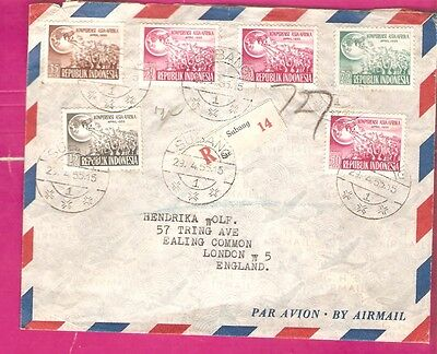 Indonesia     1955    cover  to  ENGLAND