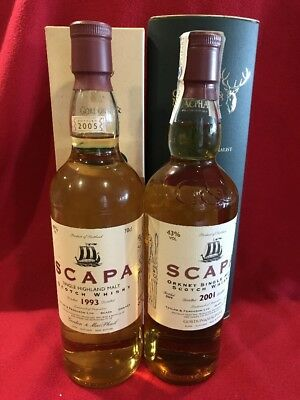 1+1 Whisky Scapa 1993-2005 No. of Bottles 297 / 385 + 2001-2014