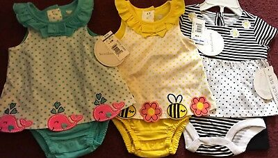 NWT Baby Girl 4 Piece Clothes Lot, 0-3 Monthes, Koala Baby Brand