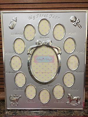 Darling Designs My First Year Silver Picture Frame