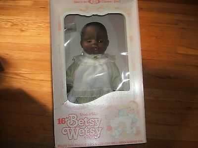 """Ideal 1983 Vintage 16"""" Drink & Wet Betsy Wetsy Doll Nrfb Classic Ideal New Doll"""
