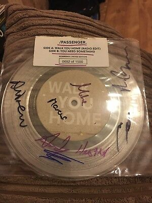 signed limited edition 7inch clear vinyl 45 Passenger Walk You Home 692 Of 1500