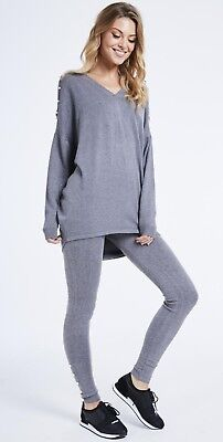 new womens ladies cold shoulder pearl tracksuit loungewear 8 10 12 14