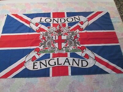 City Of London England...35X59 Coat Of Arms Flag...new