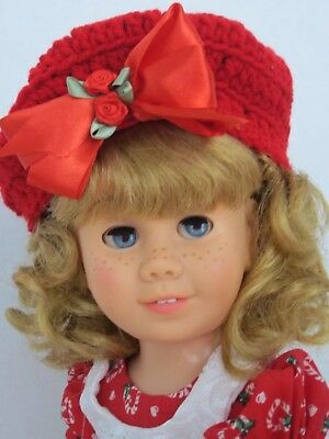CHATTY CATHY Soft Face Pigtail RED CANDY CANE HEART DRESS TALKS FREE SHIPPING