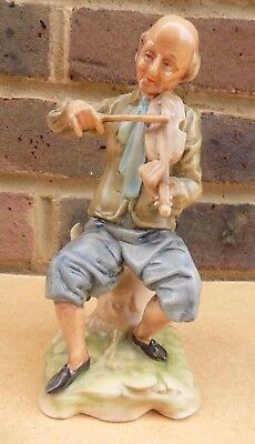 CAPODIMONTE Figurine - Man Playing Violin
