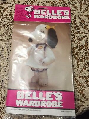 "NIP Peanuts Snoopy Belle's Wardrobe Tennis Outfit for 15"" Plush"