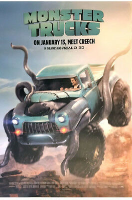 "Monster Trucks 2017 Movie Poster 27"" x 40"" 2 sided (DS)"