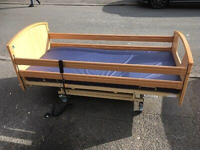 Electric Hospital / Care Home / Nursing Home Style Bed And Mattress No Reserve