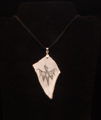 Anasazi Mimbres Bat Replica Sherd Necklace