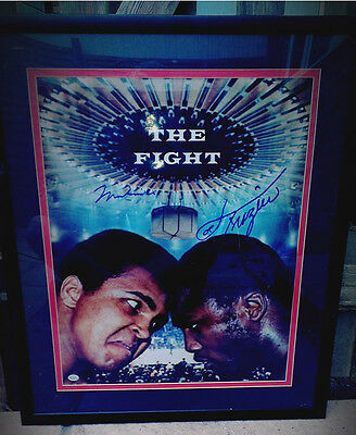 Muhammad Ali & Joe Frazier Signed Boxing Photo - Online Authentics