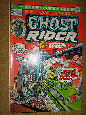 GHOST RIDER # 4 FRIEDRICH GIL KANE MOONEY 20c 1974 BRONZE AGE MARVEL COMIC BOOK