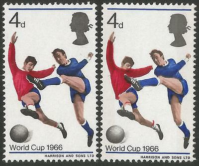 GB stamp errors: 1966 World Cup (red jersey & player's hand) unmounted mint.