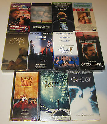 Lot Of 11 Brand New 1990s Drama VHS Tapes Saving Quiz Fried Ghost Poets