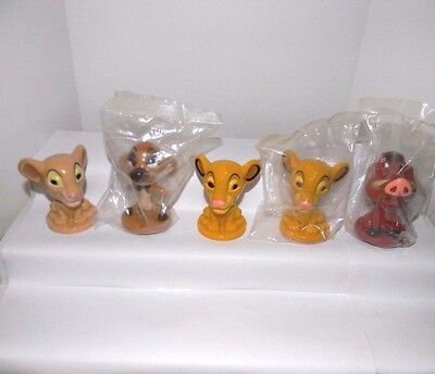 Lion King Bobble Heads Kelloggs Complete Set of 4 (3 are MIP) + Extra Simba NICE
