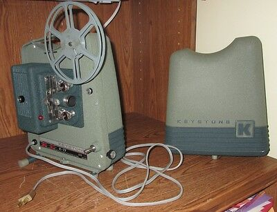 Vintage Keystone Model K-77 Automatic 8mm Motion Picture Projector Green Used
