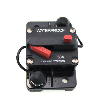 Waterproof 50 Amp Circuit Breaker With Manual Reset Auto Car Boat Marine 12v 24v