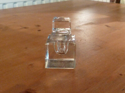 Lovely Victorian Antique Glass Inkwell