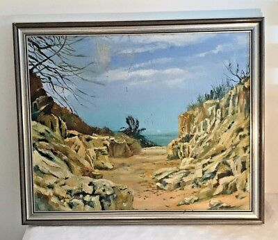 The Lake of Maracaibo Venezuela  Vintage Oil on Board – Hilda Sole
