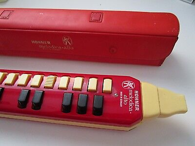 Hohner Melodica Vintage Red Alto W Box For Parts Not Working