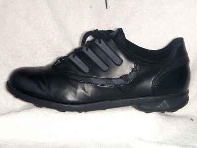 Adidas Traxion mens Golf shoes with Bag Leather Black UK 10 EU 45 US 11
