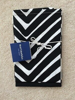 NWT Marimekko Target Kitchen Tea Towels 2ct - Black White Traktori & Lokki Print